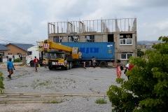Container-Ankunft in Accra mit Sachspenden aus Deutschland 07/2018