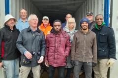 Verladung von 10 Tonnen Rigipsplatten in Lünen 02/2020