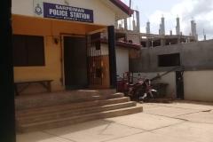 Polizeistation in der Nähe der Baustelle