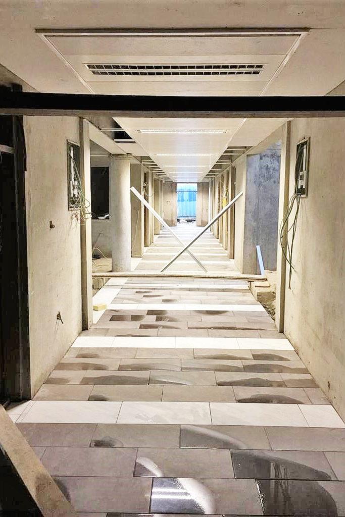 November 2019: Innenausbau Erdgeschoss