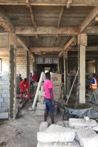 März 2020 auf der Baustelle in Ghana